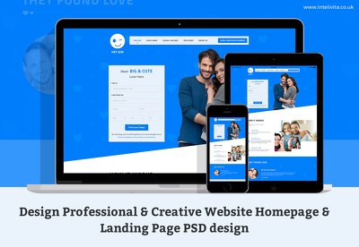 Design Eye Catchy Landing Page/One Page Website/Home Page PSD