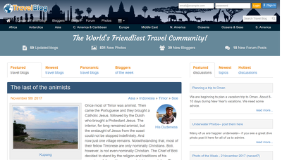 Guest post on travelblog.org DA66 Dofollow backlink