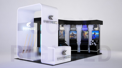 Design your exhibition stand / booth - unlimited views