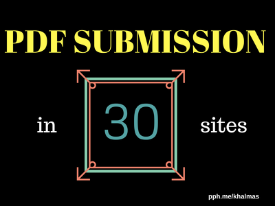 Cerate a PDF document to your niche and submission it to 30 site