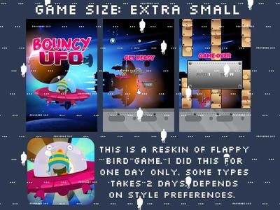 Deliver 1 medium-large size game assets plus ads and icons