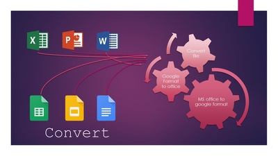 Convert MS Office file to Google file format for 2 hours