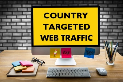 Bring 3000 real organic human country targeted website traffic