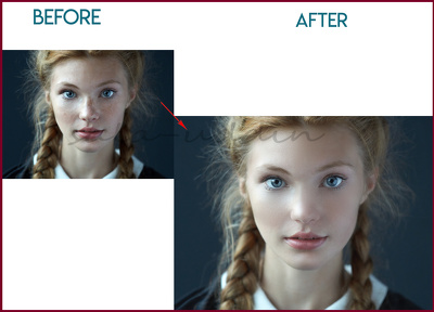 Do Skin/ Portrait Retouching for 5 Images