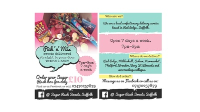Design an A4/A5/A6 flyer/menu/invite for your business