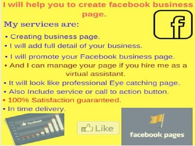 Create Facebook business page for you business