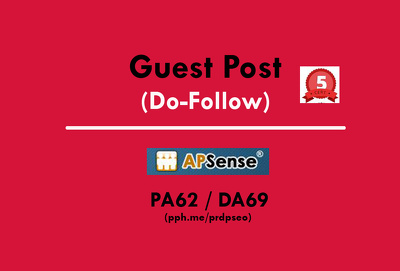 Publish a guest post on Apsense - Apsense.com - DA62, PA69