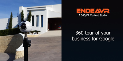 Produce a 360 tour of your business for Google.
