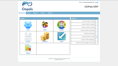 Provide you small erp system manage company data.
