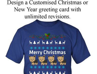 Design a customised Christmas or New Year greeting card.