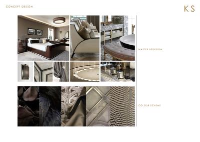 Create a concept interior design presentation