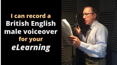 Record a British English male voiceover for your eLearning