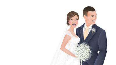 Draw a wedding portrait