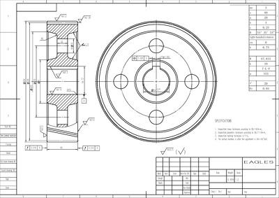 Design 2D drawing and Engineering drawing