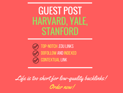 Add a guest post on .edu websites
