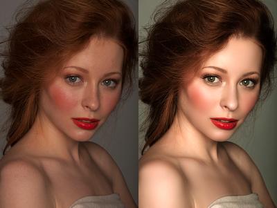Photoshop Highend Portrait Retouch 2 images
