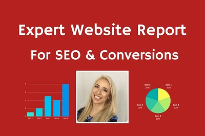 Get an Expert Website Report for SEO, Usability & Sales