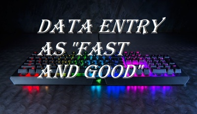 "Do all ""data entry"" work professionally as fast as better"