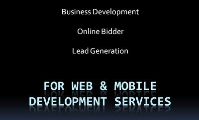 Perform online bidding, BDE, BDM activities for your IT firm