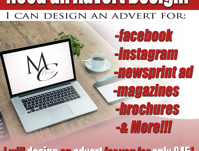 Design a targeted print or web advert at an amazing price