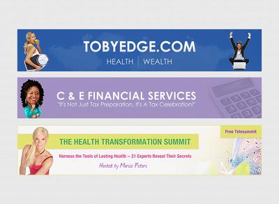 Design a website banner or advert