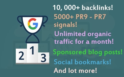 COMPLETE white hat SEO package for organic TOP ranking