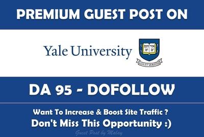 Guest post on Yale University. Yale.edu - DA 95