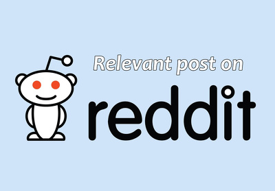 Create a relevant post on Reddit with social signals on it