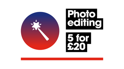 Edit your photos - 5 for £20