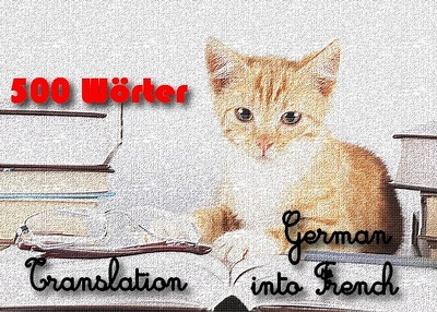 Translate 500 words from German into French