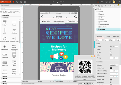 Design Wireframe for Web and Apps