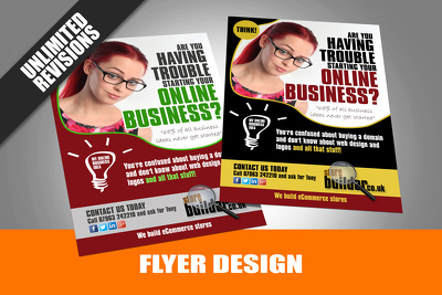 Design A Flyer Double Side Or Poster Single Side