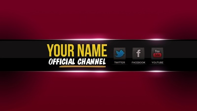 Design a professional, unique, and eye catching YouTube banner
