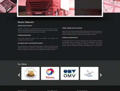 Static Website Pages 6, design, Animated slider on landing page.