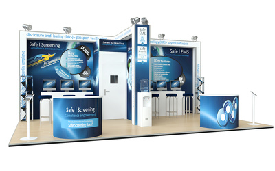 Design & visualize Your exhibition stand / booth / kiosk in 3D