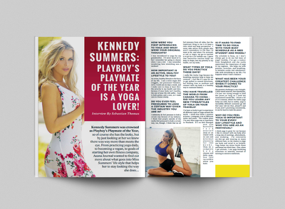 Magazine layout design 20 pages