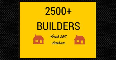 Provide UK Builders Tradesmen Database of 2500+ records