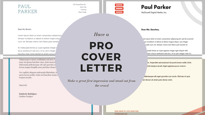 Professionally proofread, re-write or re-design a cover letter.