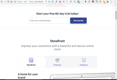 Open You A Shopify Store With 60 Day Trial