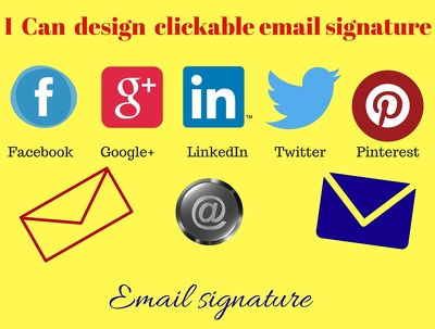 Design clickable email signature