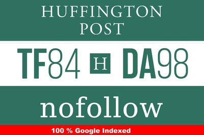 Guest Post on Huffingtonpost - USA Edition - 100% Google Index