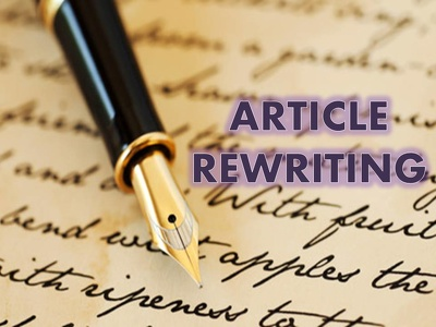 Manually write or rewrite any SEO optimized article or blog