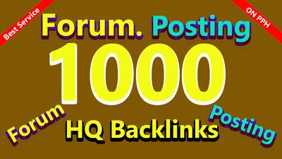 1000 Forum posting link building for Social media Seo campaign