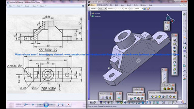 Do 3D 2D modelling  using Solidworks , Catia V5 and Autocad