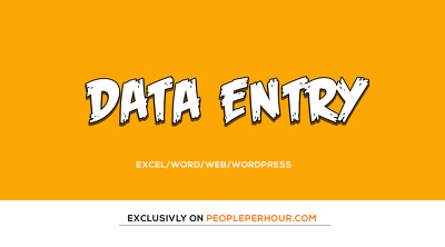 Do excel or WordPress CMS data entry jobs for 1 hour