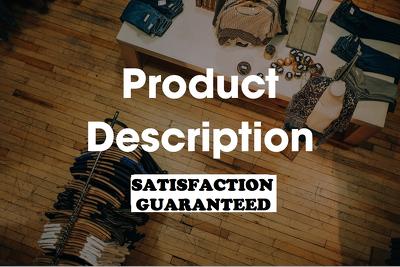 Write unique product description for your ecommerce store