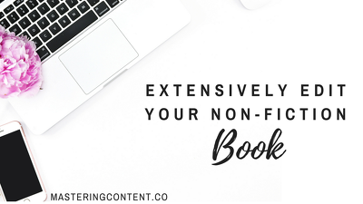 Extensively edit your non-fiction book (10,000 words)