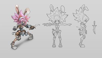 Design 2d character artwork