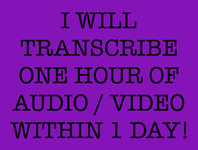 Transcribe 15 minutes of audio or video for