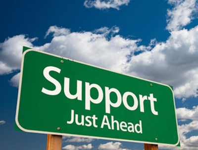Give management support